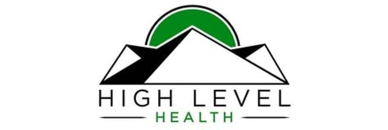 High Level Health White Logo