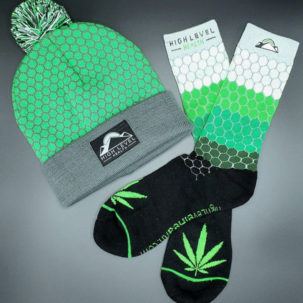 High Level Health Socks and Beanie