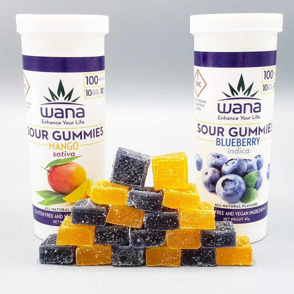Wana Mango and Blueberry Gummies