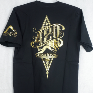 Black and Gold 420 Tee