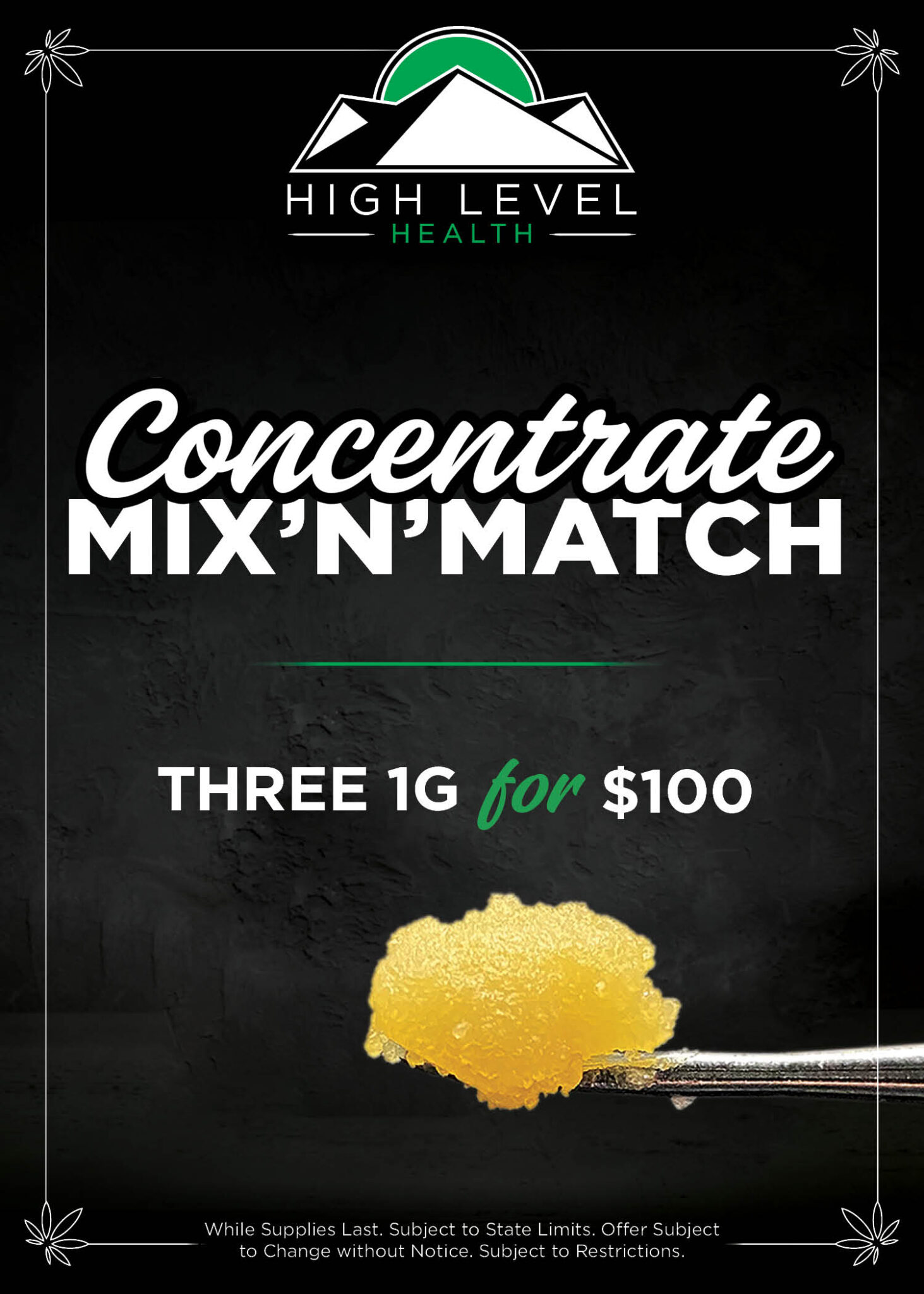 HLH-Concentrate Mix n Match 3 for 100